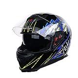 Motocross-Helme für Männer, Frauen Dual-Lens Anti-Fogging-Vollgesichts-Motorradhelm Outdoor-Mountain-Motorradkappe Moto-Zubehör