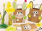 DIY Osterhasen Tüten mit Henkel – Bunte Geschenktüten zu Ostern zum selber Befüllen – zum Verpacken von Geschenken für Kinder und Erwachsene - 5