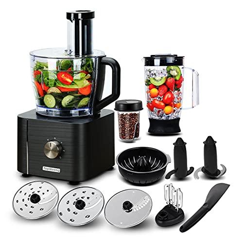 TopStrong Procesador de Alimentos 1100W,11 en 1 Robot de Cocina Multifunción,Capacidad 3.2...