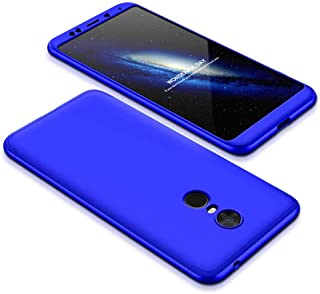 Xiaomi Redmi 5 Plus Case, fashion ultra Slim Gkk 360 Full Protection Cover Case - Blue