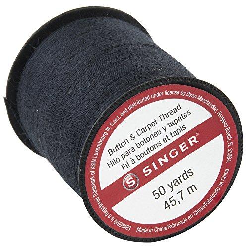 SINGER 67110 Button & Carpet Sewing Thread, 50-Yards, Black