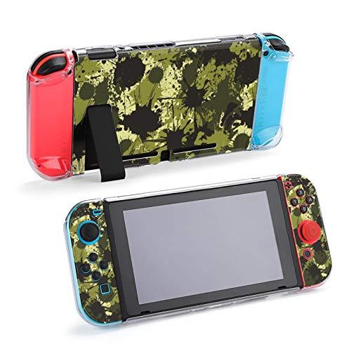 Funda Protectora de Estilo de Salpicaduras de Pintura de Tinta con patrón de Camuflaje para Nintendo Switch, Funda Suave y Delgada