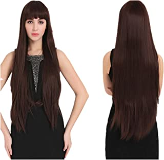 women black long straight wig for women