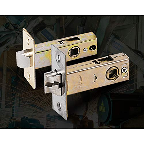 Tubular latch, mortice lock door latch designed for use with unsprung lever door handles.