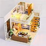 Hearthrousy DIY Puppenhaus Miniatur Haus Selber Bauen Zum Basteln Zubehör Holz Lernspielzeug...