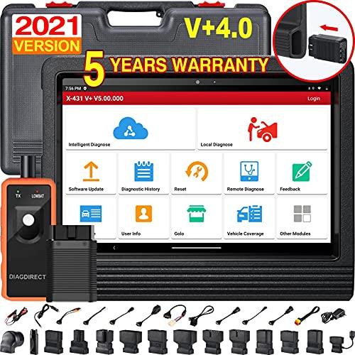 Launch X431 V+ Bluetooth Car Diagnostic Scanner Sistema Completo OBD2 Lettore di Codice Android Tablet con 2 Anni di Aggiornamento Online DBScarII Modulo Connettore Bluetooth e Accessori Completo Set