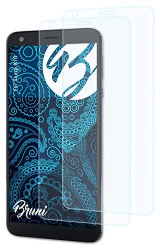 Bruni Schutzfolie kompatibel mit Sharp B10 Folie, glasklare Bildschirmschutzfolie (2X)