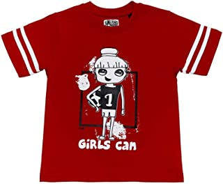 The Talking Canvas Girls Can Football Cotton Sporty T-shirt for girls 2-8 years