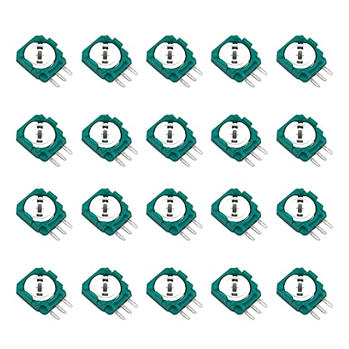 Onyehn 20pcs Replacement Trimmer Potentiometer Sensor for Xbox One,PS3,PS4 Switch Pro Controllers,Gasket Repair Parts for Thumb Stick Analog Joystick