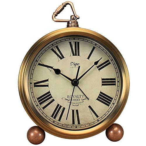 Despertador digital Reloj despertador de 4 pulgadas doble campana despertador con esfera estereoscópica retroiluminada operado fuerte despertador