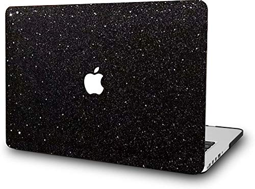 Carcasa rígida para MacBook Air de 13 pulgadas, modelo Retina A2337 M1 A2179 A1932, versión 2020 2019 2018 RQTX, color negro brillante