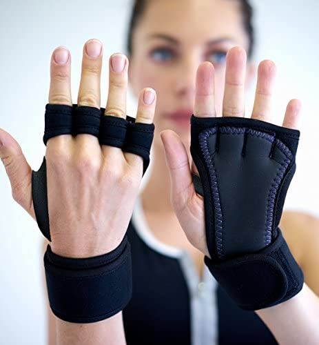 Padded Grip Gloves Wrist Support Workout Gloves Yoga Pilates Wei