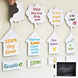Dry Erase Sticky Notes - Speak Bubbles, Arrows, Strips Reusable Whiteboard Stickers -12 Pack - Suitable for All Smooth Surface - Washable, Removable and Eco-Friendly!
