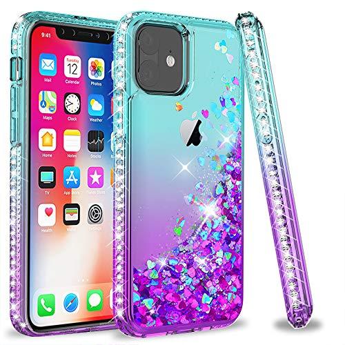 LeYi Hülle für iPhone 11 (6.1) Glitzer Handyhülle, Diamond Cover Bumper Schutzhülle für Hülle Apple iPhone 11 / iPhone XI Handy Hüllen ZX Turquoise Purple