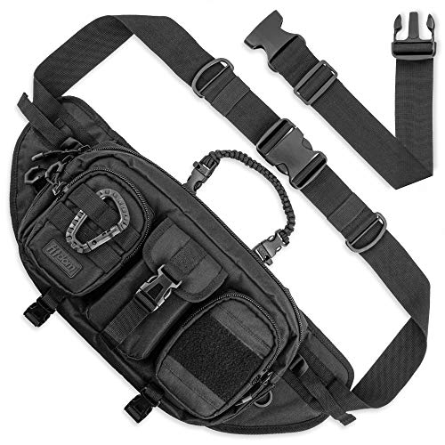 Fitdom Large Tactical Sling Bag for Men. Made from Heavy...