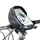 Liebetion(リーベシオン) 自転車トップチューブバッグ サドルバッグ 収納可能 防水 防圧 遮光 多機能 ハンドルバック 取り付け簡単 軽便 大容量 6.0インチスマホ対応 フロントバッグ