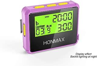 honmax 防水インターバルタイマー+ストップウォッチ,タイマーの用途: HIIT、Cross Fit、無酸素運動、重量挙げ、筋力トレーニング、タバタトレーニング、ケトルベル、MMA、エアロビックトレーニング、ヨガ、瞑想、ピラティス、キッチンタイマー、時間管理、間欠性トレーニング、マラソン、トライアスロン、ランニング、ウォーキング、戸外運動、ボクシングトレーニング、サイクリング、航海、セーリング競技計時等々(ROSE/Y)