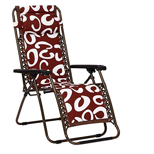 FUFU Patio Lounge Chairs Lounge Chair, Lounge Chair Folding Zero Gravity Reclining Chair Lazy Chair Elderly Chair Outdoor Beach Lounge Chair With Recliner Support Multi-function Adult Chair Lazy Foldi