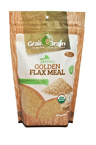 Grain Brain Golden Flax Seed Meal, Organic , Non-GMO, Packaged in Resealable Pouch Bags to preserve Freshness (12 oz)