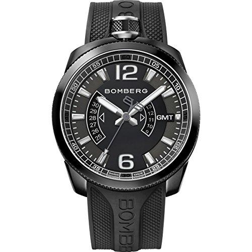 Bomberg Bolt 68 Herren-Armbanduhr 45mm Silikon Schweizer Quarz 45GMTPBA.005.3