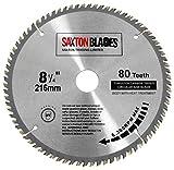 Saxton TCT21680T Lame de scie circulaire à bois avec dents en carbure de tungstène - 216x 30mm...