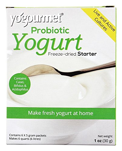 Yogourmet Casei Bifidus Acidophilus Probiotic Yogurt Starter, 0.17 Ounce, 6 Count box