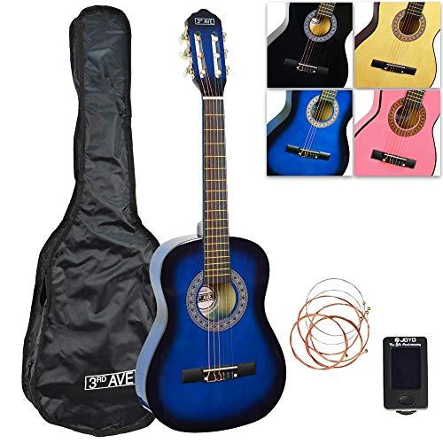 3rd Avenue Konzertgitarren-Set Junior in 1/2-Größe, in Blueburst, mit Tasche, Stimmgerät und Ersatzsaiten