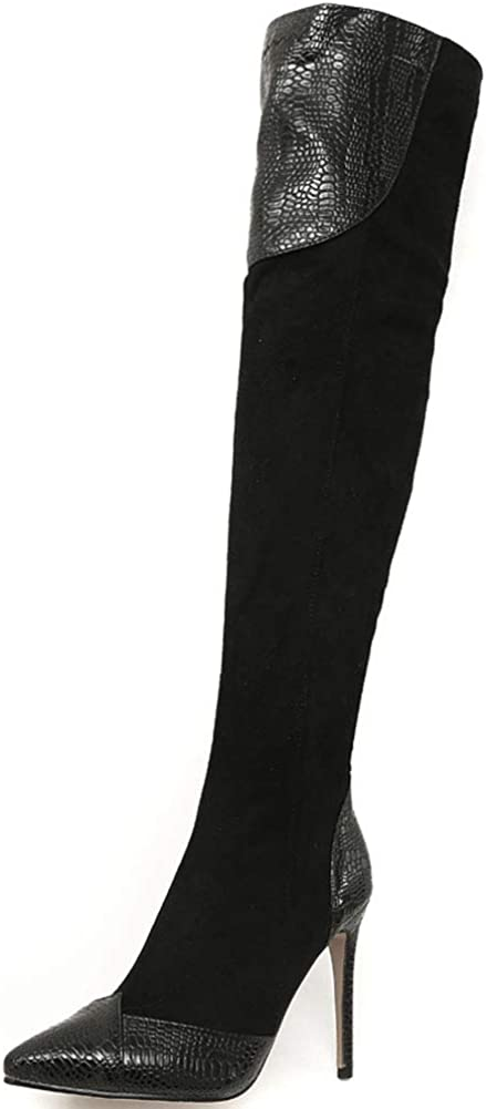 Max 67% OFF AOSPHIRAYLIAN Womens Stretch Dealing full price reduction Over The Boots Stiletto H High Knee