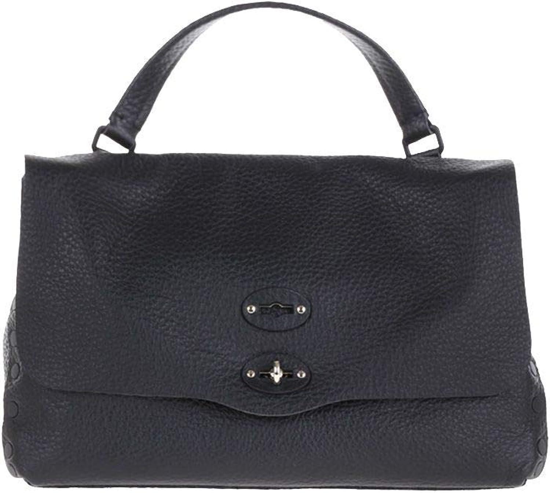 Zanellato Damen 6134P602 Schwarz Leder Handtaschen B07PRCKT11