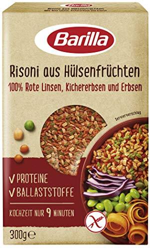 Barilla Risoni aus Hülsenfrüchten - Rote Linsen, Kichererbsen und Erbsen, 1er Pack (1x300g)