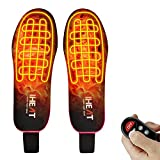 Heated Insoles Eletric Heated Insoles Remote Foot Warmers with Controller Rechargeable Lithium Battery Outdoor Work Ideal for Both Men and Women