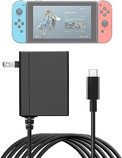 任天堂NintendoSwitchACアダプター急速充電器ns電源アダプター直接充電TypeCポート15V/2.6A出力TVモードサポート、ニンテンドースイッチ用急速充電器