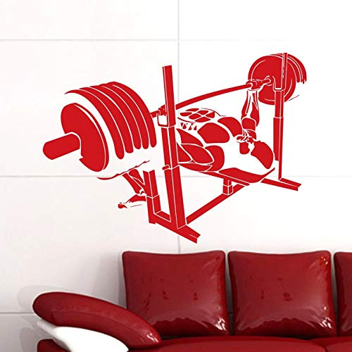 zzlfn3lv Gym Sticker Fitness Decal Body-Building Posters Vinyl Wall Decals Pegatina Quadro Parede Decor Mural Gym Sticker 42 * 58cm