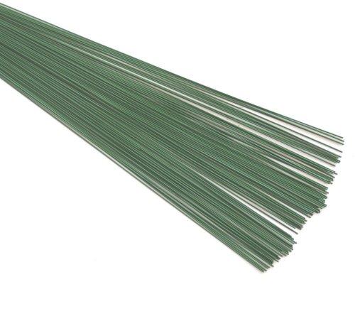 Alambre verde para floristas (0,9mm), de color verde, diámetro de 20swg x 19cm/19,7 cm, 88 g, 100 unidades...