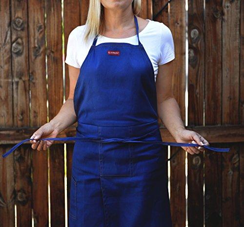CLAYPRON Artist Kitchen Split Apron (Blue Denim)