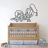 Sala de estar dormitorio decoración de la pared pegatinas de pared dormitorio de los niños puertas y ventanas de la habitación del bebé papel tapiz personal del hogar 42X63cm