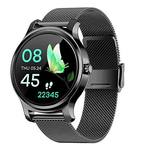 FMSBSC Smartwatch, Reloj Inteligente con Llamada, Pulsómetro, Cronómetros, Calorías, Monitor de Sueño, música, Podómetro Monitores de Actividad Impermeable IP67 Compatible con Android iOS,Black b