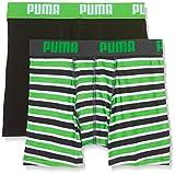 Puma Basic Boxer Printed Stripe 2P, Bóxer para Niños, Verde (Classic Green), 164 (Talla de fabricante: 13-14 Años)