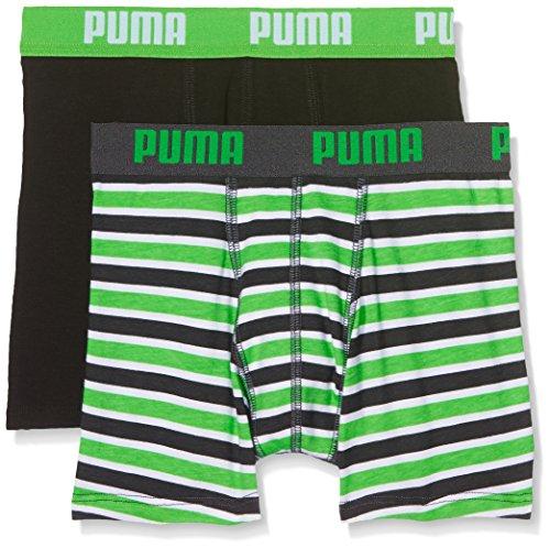 Puma Jungen Basic Boxer Printed Stripe 2p Boxershorts,grün( Classic Green),128 (Herstellergröße: 7-8 Jahre )