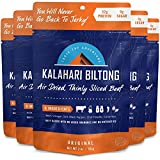 Original Kalahari Biltong, Air-Dried Thinly Sliced Beef, 2oz (Pack of 5), Sugar Free, Gluten Free, Keto & Paleo, High Protein Snack