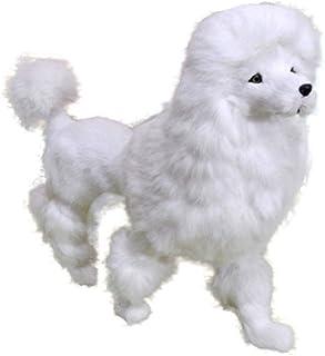 Mini Realistic Plush Animal Lifelike Plush Fur Animal Furry Pet Animal Home Ornament Simulation Toy Model, Cute Poodle-4