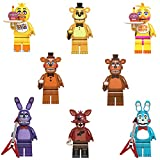 Q&K Set of 8 PCS Five Nights at Freddy's Toys, FNAF Figure Funtime Freddy Foxy Sister Location Horror Doll, Lightening Movable Joints Action Figures Toys for Kids Boys and Girls