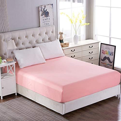 Protector de colchón de algodón extra profundo para cama de matrimonio de 150 x 200 x 25 cm