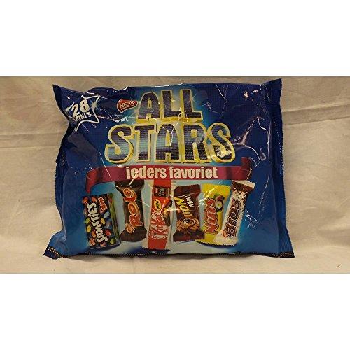 Nestlé All Stars Minis 28 Stck, 434g Beutel (Smarties, Rolo, KitKat, Lion, Nuts & Bros)