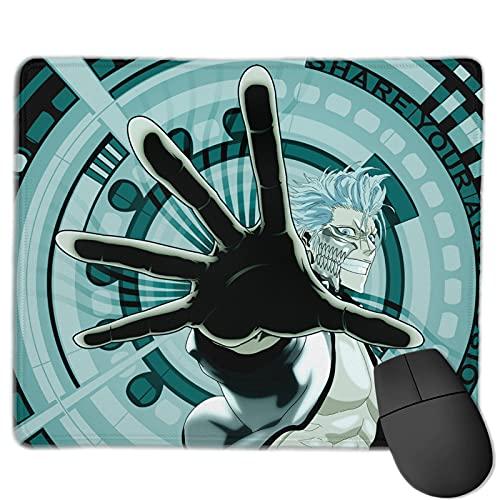 Alfrombrillas Bleach Grimmjow Alfombrilla de ratón para Juegos con Base de Goma Antideslizante Alfombrilla de ratón Impermeable para Oficina en casa 25x30cm