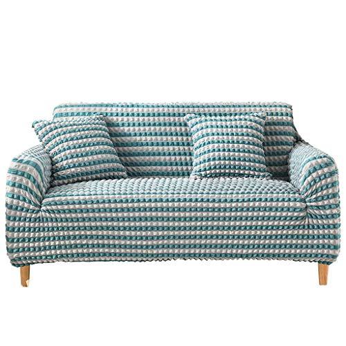 JRAVELR Fundas De Sofá Elásticas Fundas De Sofá Fundas De Sofá De Color Sólido Protector De Muebles para Sofás/Mascotas, con 2 Fundas De Almohada Blue 3 Seats