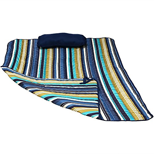 Sunnydaze Hammock Pad and Pillow Set Only - Polyester Quilted Hammock Cushion Pad and Hammock Pillow with Ties - Outdoor Weather-Resistant - Lake View