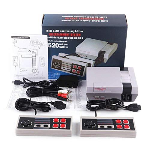 Aiboria Consola de juegos para niños, diseño retro clásico, consola con 620 juegos integrados (algunos repetidos), 8 bits con doble control para vídeos de TV