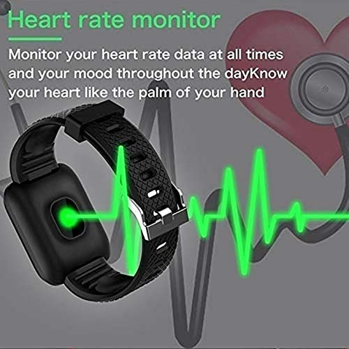 SHOPTOSHOP Smart Band ID16_PAR Men Women Fitness Tracker Smart Watch 1.3 inch Screen Blood Pressure Heart Rate Monitor Lite Exercise Smartwatch for All Boys & Girls (Black)