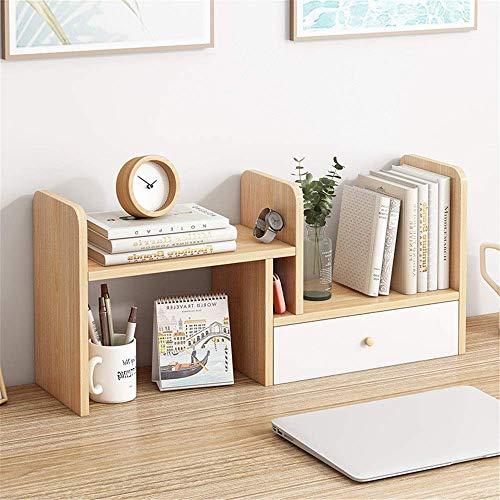 LWX Estante de escritorio ajustable Estante de escritorio de madera Estantería de encimera Librería de escritorio Suministros de oficina Organizador de escritorio Litera. suministros, exhibir recuerdo